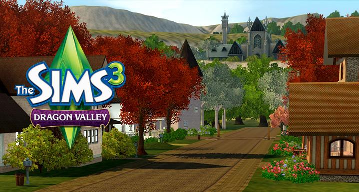 Výsledek obrázku pro the sims 3 údolí draků